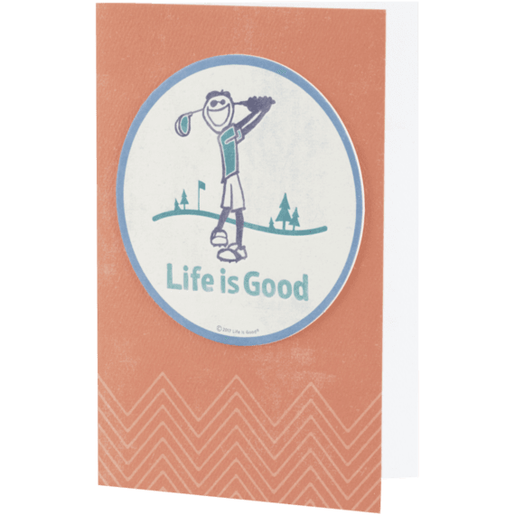 Life is Good Jake Golf Coaster Card