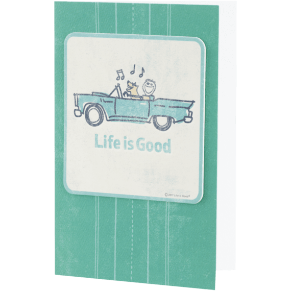 Life is Good Music Car Coaster Card