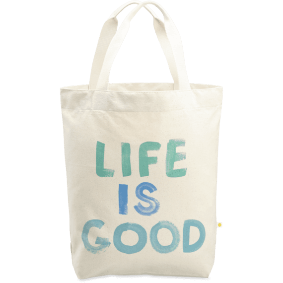 Life is Good Painted Simplicity Tote