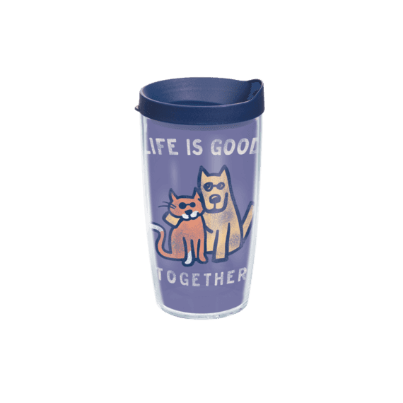 Life is Good Together Tervis Tumbler with Navy Lid, 16 oz.
