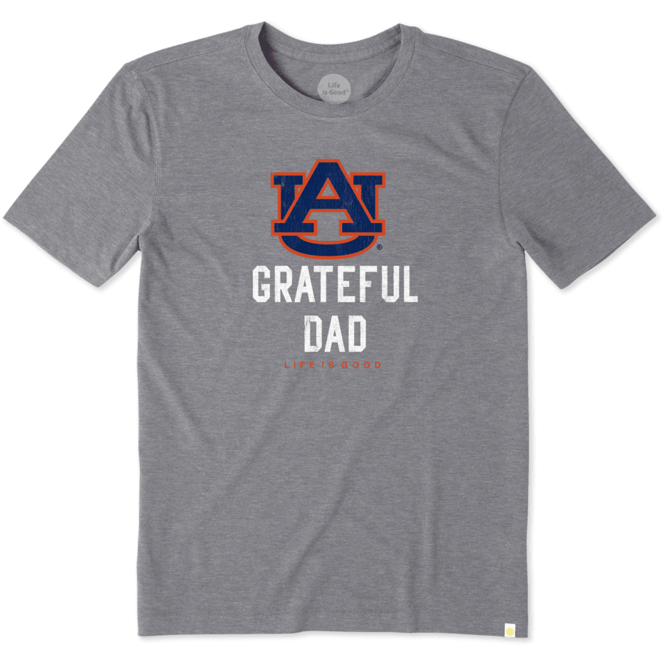 Mens Auburn Grateful Dad Cool Tee
