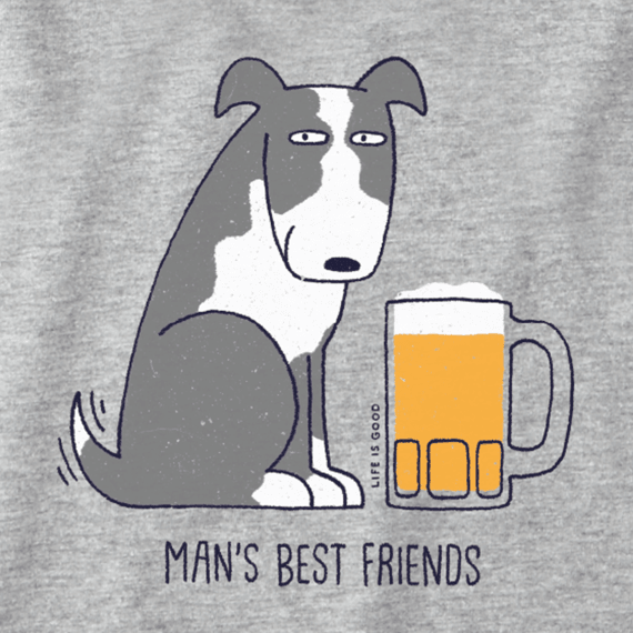Men's Best Friend Long Sleeve Crusher Tee