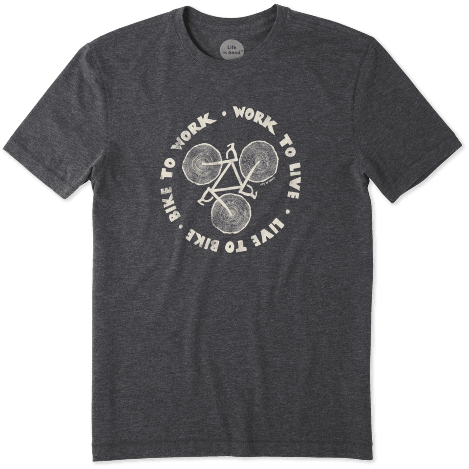 Mens Bike Work Live Cool Tee