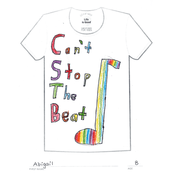 Men's Can't Stop The Beat Art Contest Crusher Tee