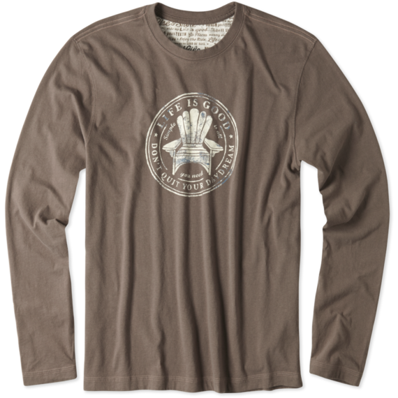 Men's Don't Quit Your Daydream Long Sleeve Creamy Tee