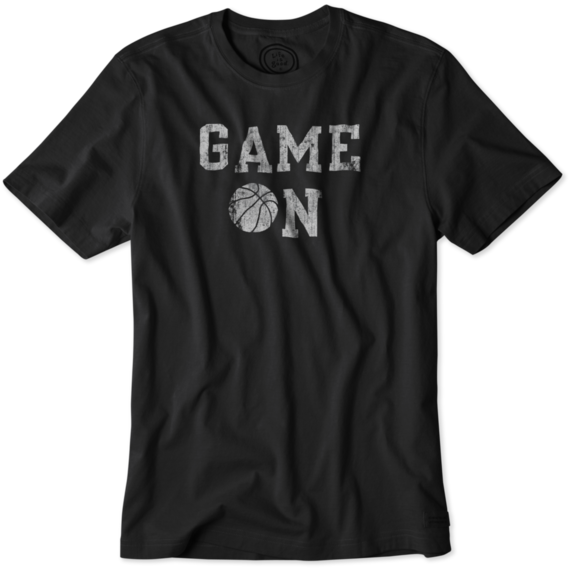 Men's Game On Basketball Crusher Tee