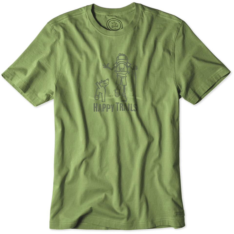 Lifeisgood Men's Happy Trails Hike Crusher Tee