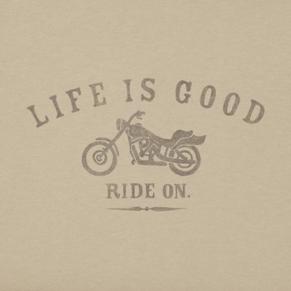 Men's Ride On Motorcycle Long Sleeve Crusher Tee