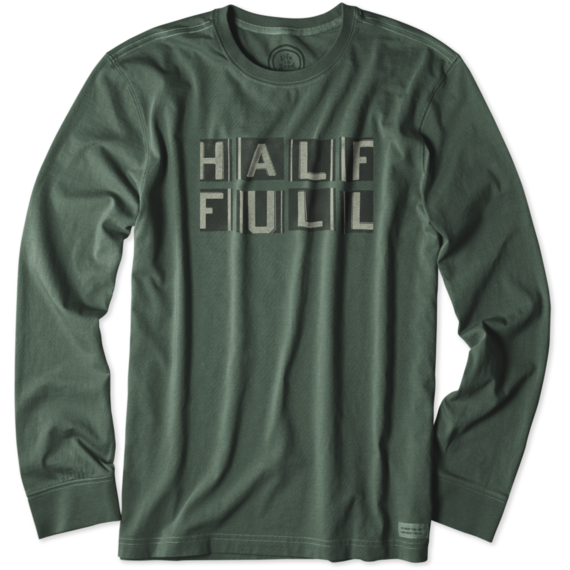 Men's Half Full Long Sleeve Crusher Tee