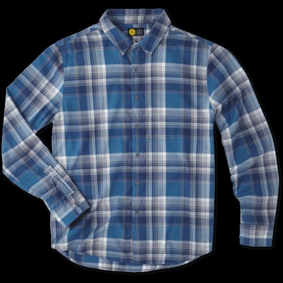 Men's Denim Blue Down Home Plaid Shirt