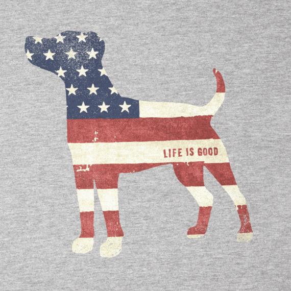 Men's Dog Flag Long Sleeve Crusher Tee