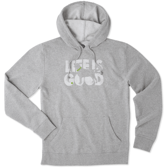 Men's Dog Silo Life Is Good Go-To Hoodie