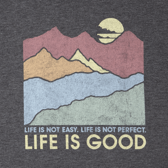 Men's Easy Perfect Good Mountains Long Sleeve Cool Tee
