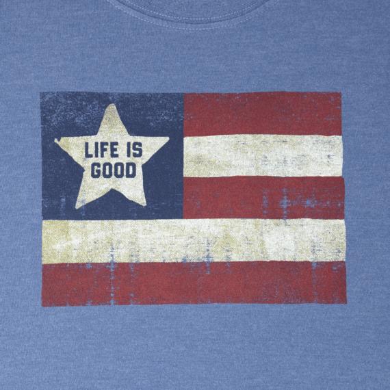 Men's Flag Life Is Good Long Sleeve Crusher Tee