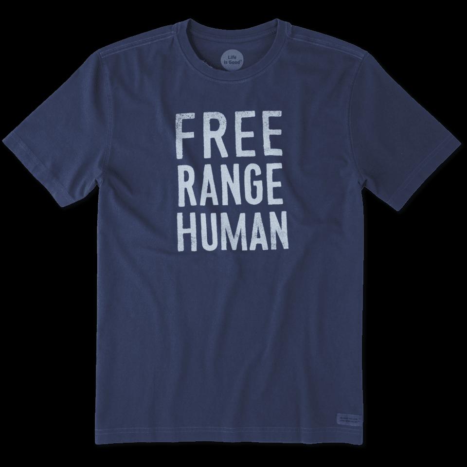 Mens Free Range Human Crusher Tee