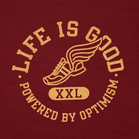 Men's Powered By Optimism Winged Shoe Tech Tee