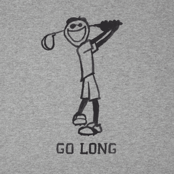 Men's Go Long Golf Crusher Tee