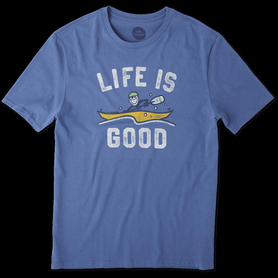 Mens Kayak Life Is Good Smooth Tee