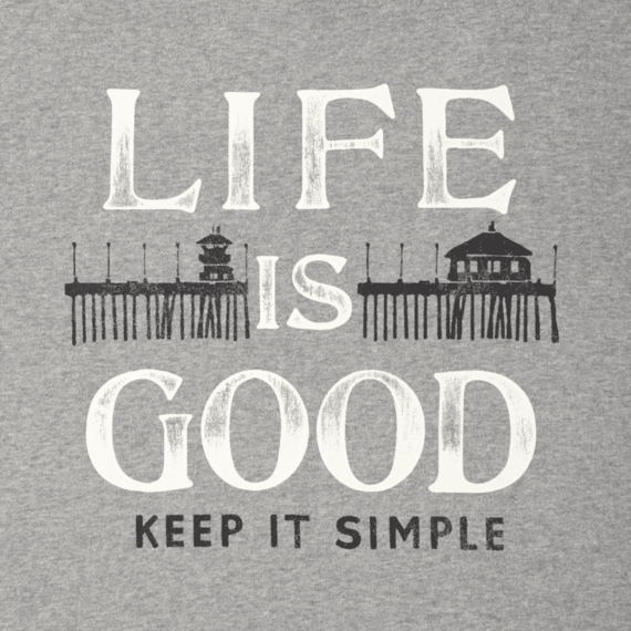 Men 39 s keep it simple boardwalk go to crew sweatshirt for Minimalist living what to keep