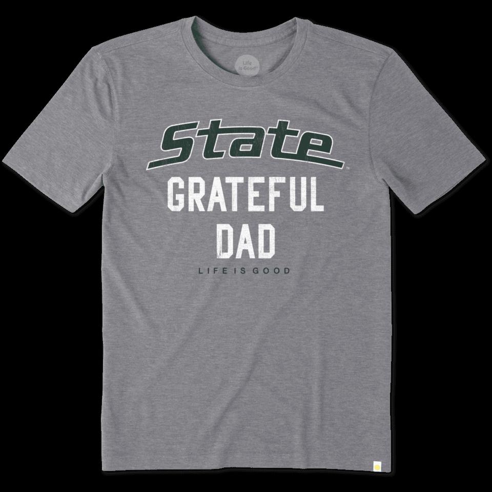 Mens Michigan State Grateful Dad Cool Tee