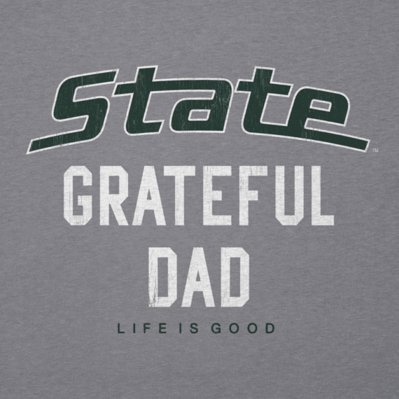 Men's Michigan State Grateful Dad Cool Tee