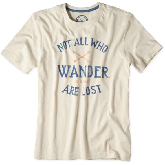 Men's Not All Who Wander Creamy Tee