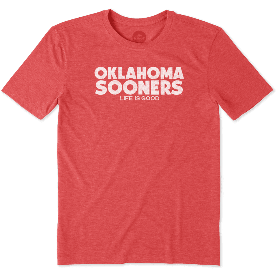 Mens Oklahoma Life Is Good Cool Tee