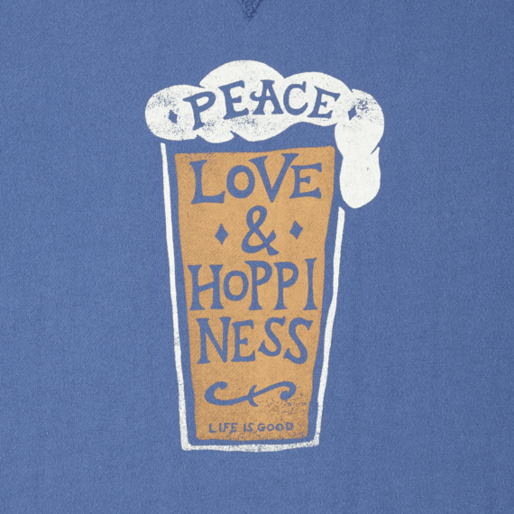 Men's Peace Love Hoppiness Go-To Crew