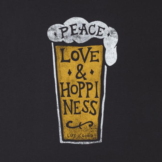 Men's Peace Love Hoppiness Long Sleeve Smooth Tee
