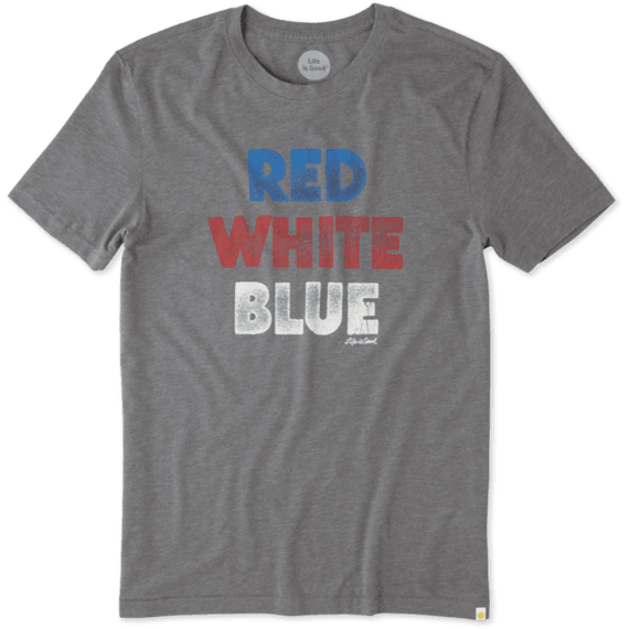 Men's Red White Blue Cool Tee