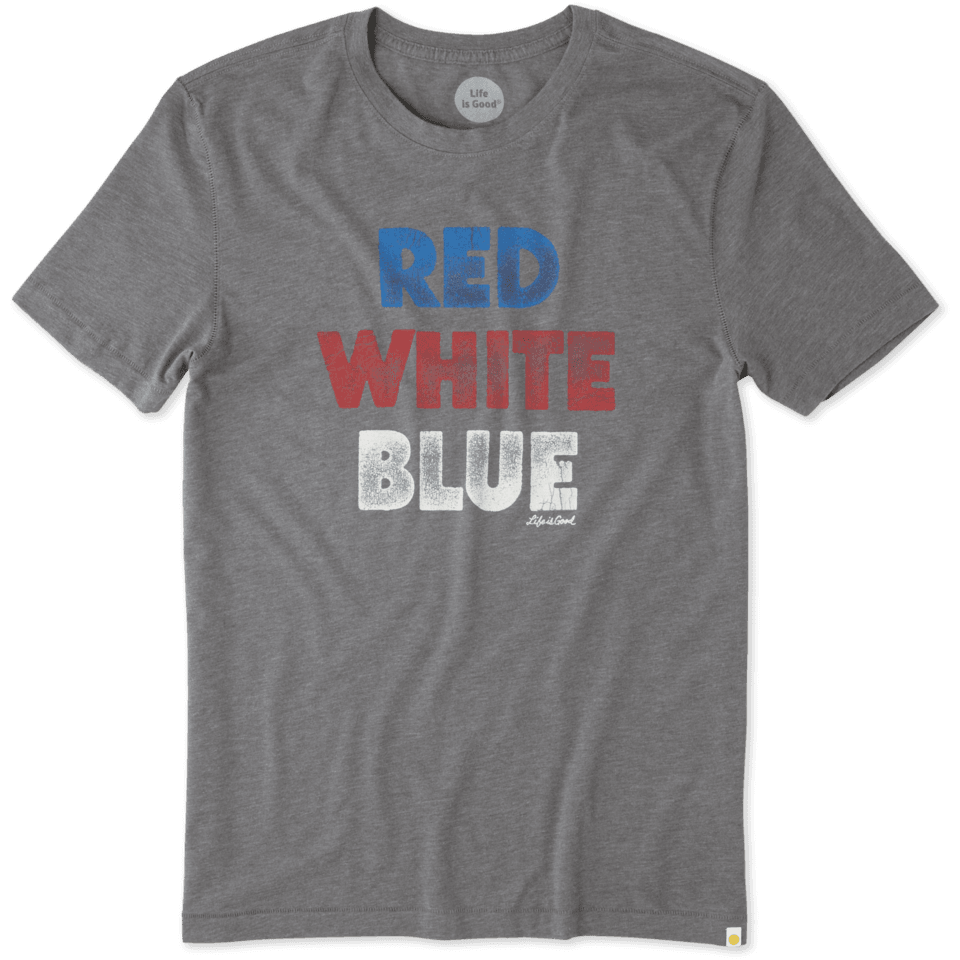 Mens Red White Blue Cool Tee