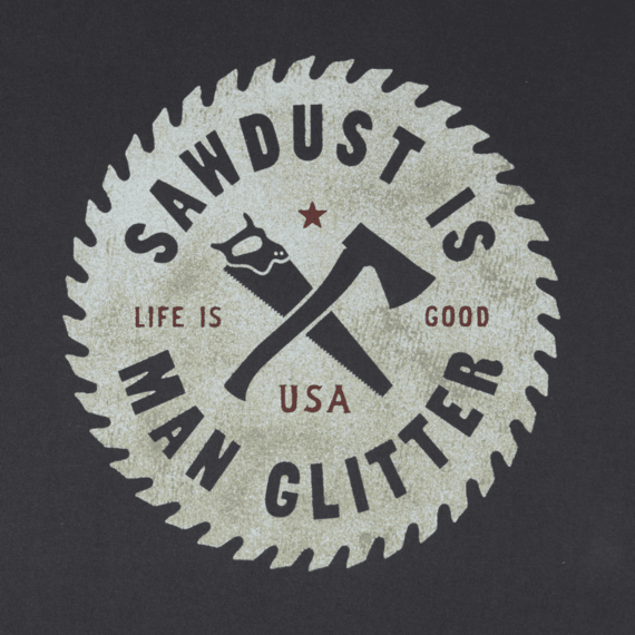 Men's Sawdust Glitter Crusher Tee