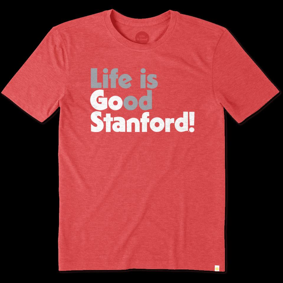 Mens Stanford University Go Team Cool Tee