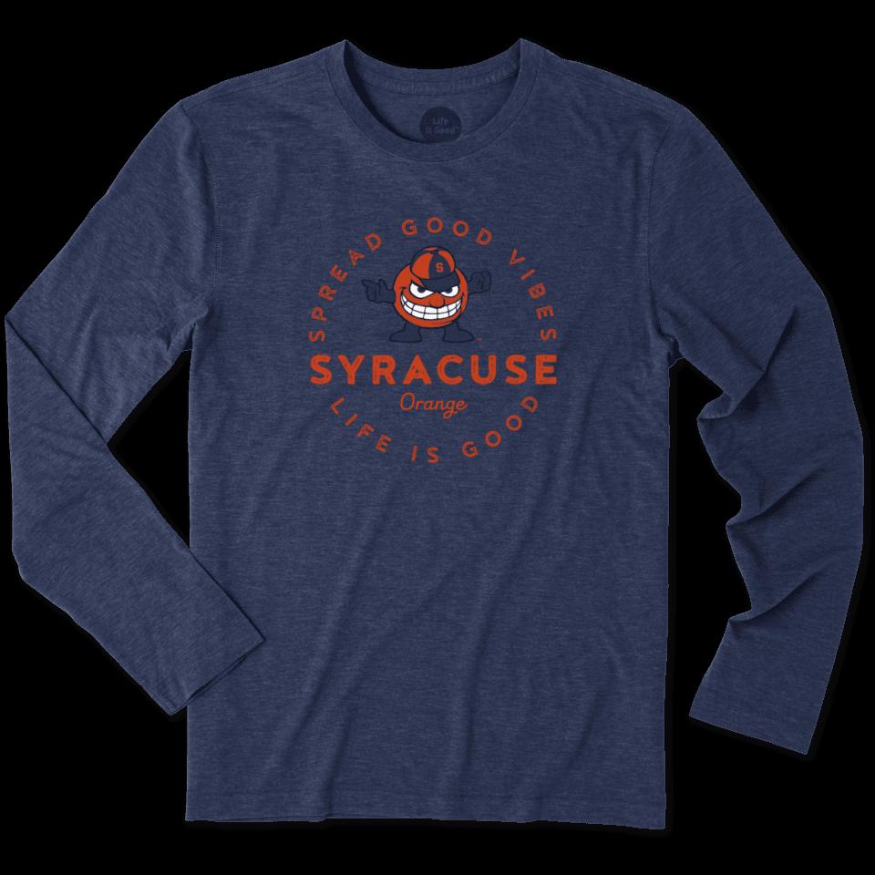 Mens Syracuse Good Vibes Long Sleeve Cool Tee