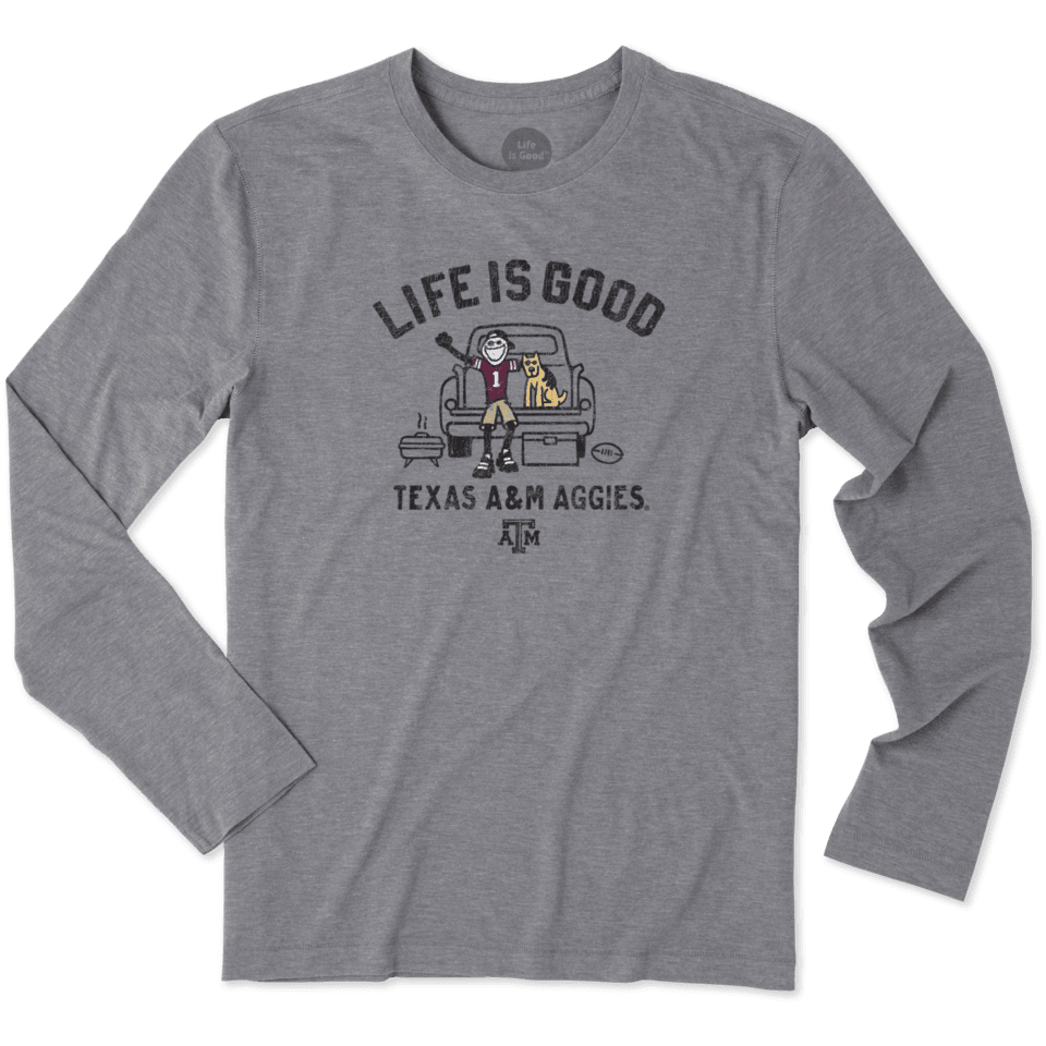 Mens Texas A&m Tailgate Jake Long Sleeve Cool Tee