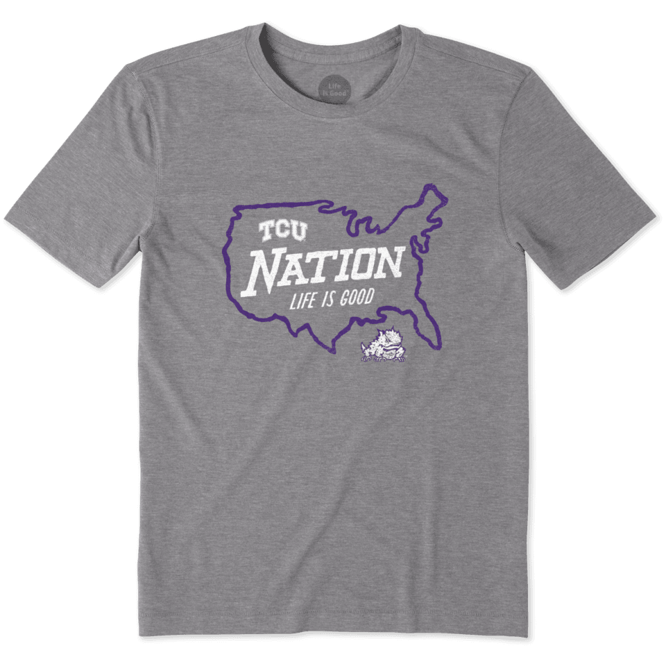 Mens Texas Christian Horned Frogs Nation Outline Cool Tee