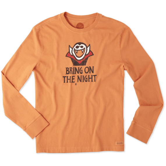 Men's Vampire Night Long Sleeve Crusher Tee