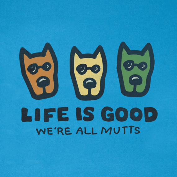 Men's We're All Mutts 3 Rockets Crusher Tee