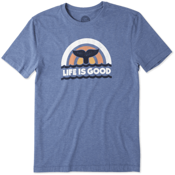 Men's Whales Tail Life Is Good Cool Tee