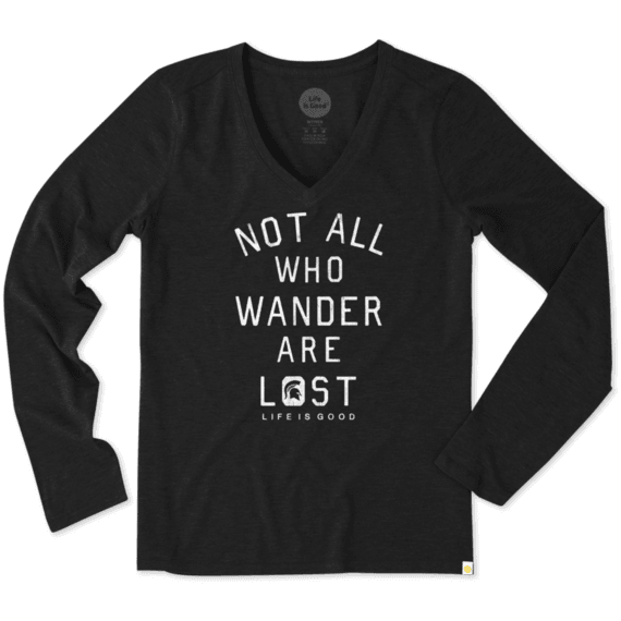 Women's Michigan State Not All Who Wander Long Sleeve Cool Tee
