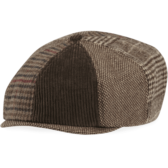 Mixed Patterns Brown Baker's Cap