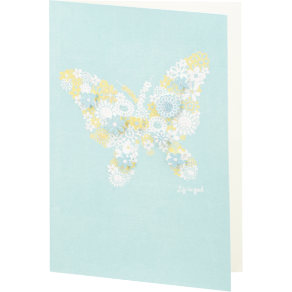 Butterfly 3-D Flower Card