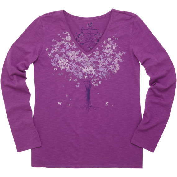 Women's Organic Topnotch Long Sleeve Vee