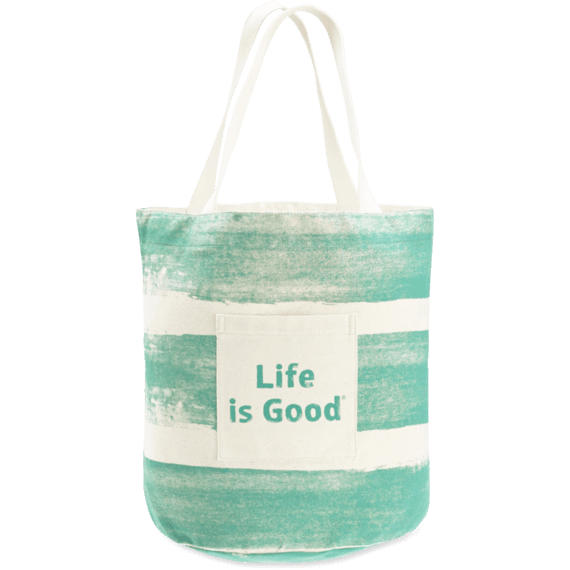 Painted Stripe Beach Tote
