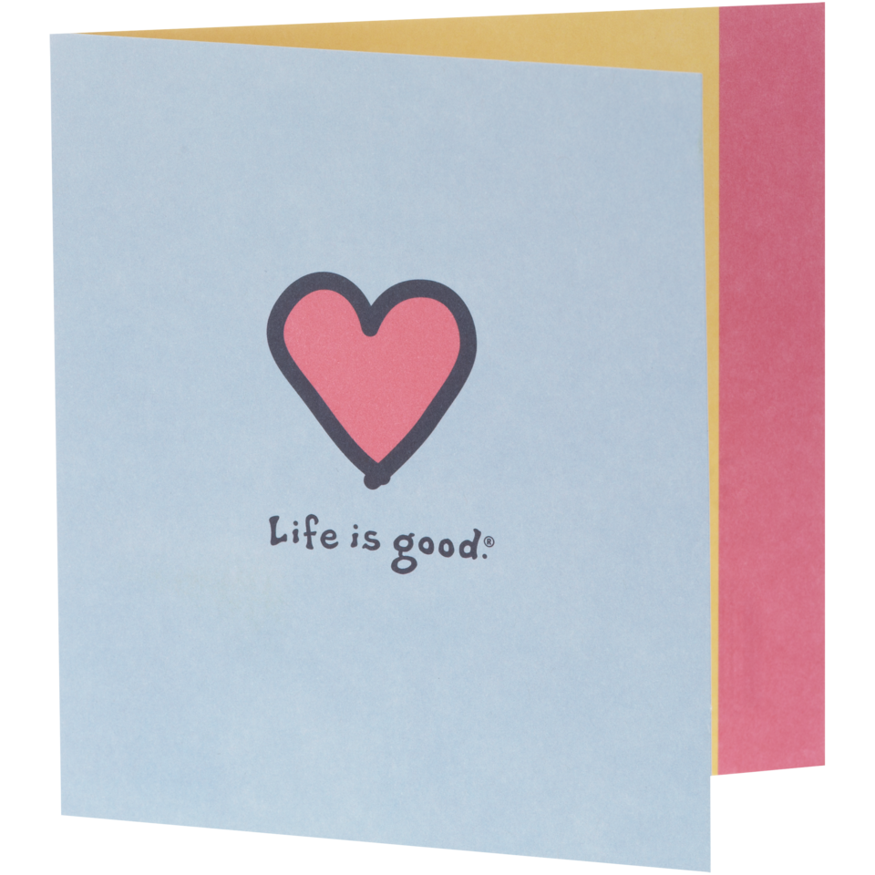 Life is good Pink Heart Hallmark Card