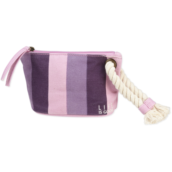 Striped Rope Wristlet