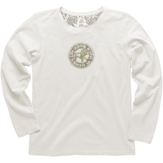 Women's Simple As That Adirondack Long Sleeve Creamy Tee