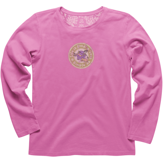 Women's Simple As That Lounge Long Sleeve Creamy Tee