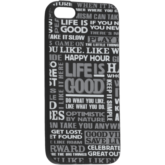 LIG Sayings Black Phone Cover