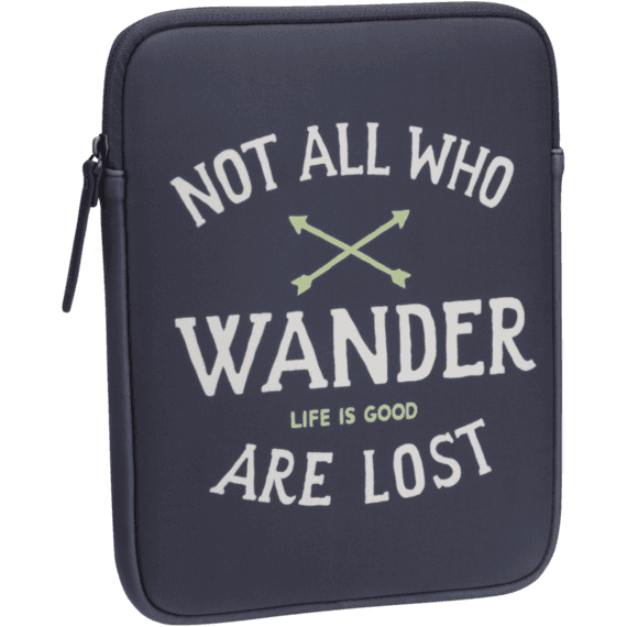 Not All Who Wander Tablet Jacket
